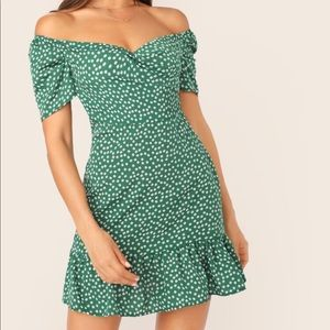 New Green Mini Dress